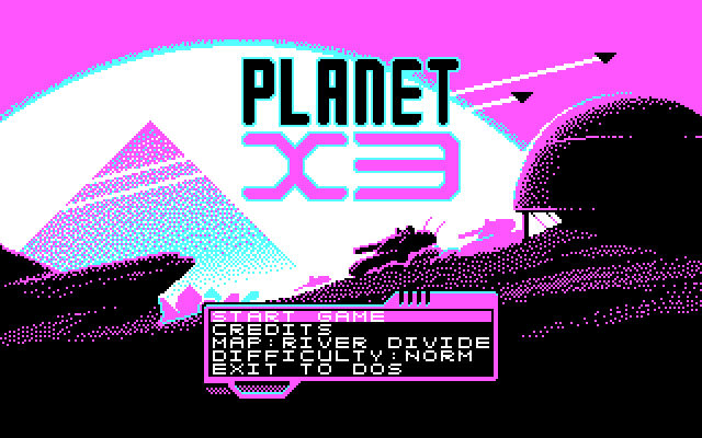 Planet X3 in CGA mode