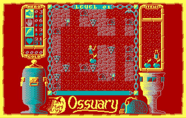 Ossuary, now with a shirt for the hero
