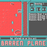 Mockup for the forthcoming Barren Planet game